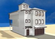 Smith coastal modern piling home on Navarre Beach by Acorn Fine Homes - Thumb Pic 5