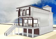 Smith coastal modern piling home on Navarre Beach by Acorn Fine Homes - Thumb Pic 4