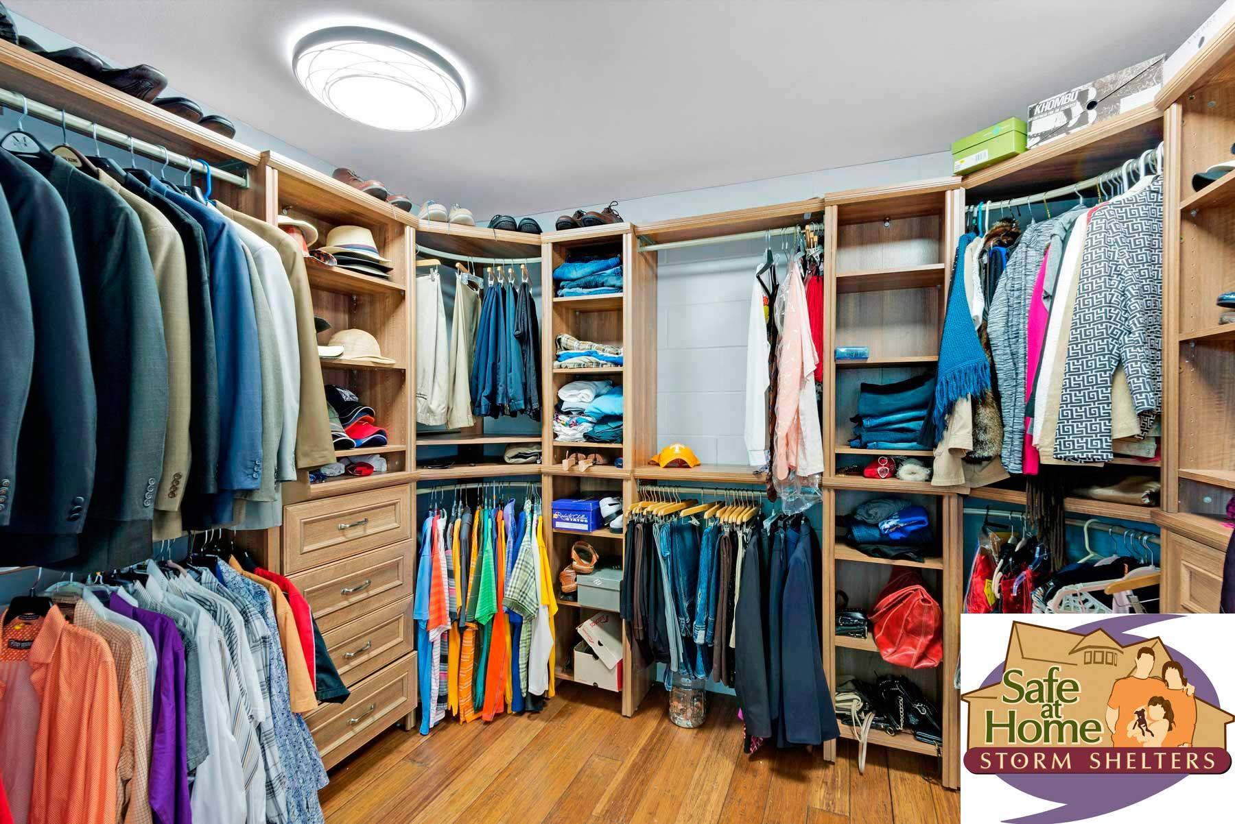 Superieur This Master Closet Doubles As A Safe Room, Easy To Get To In An Emergency.