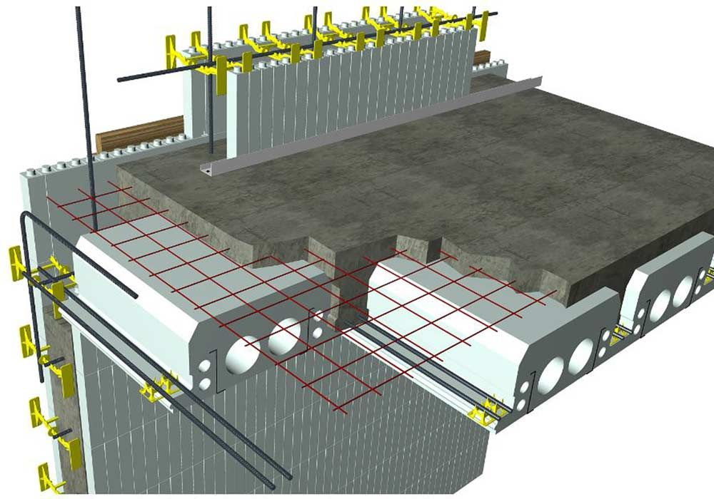 Acorn construction icf construction for Icf foam block construction